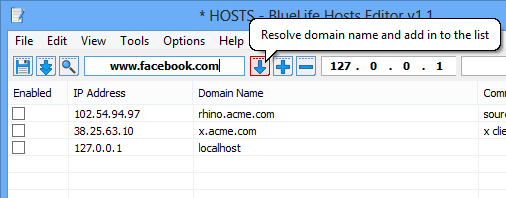 Resolve a domain name