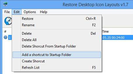 Add a shortcut to Startup Folder