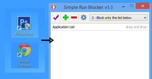 Simple run blocker add App