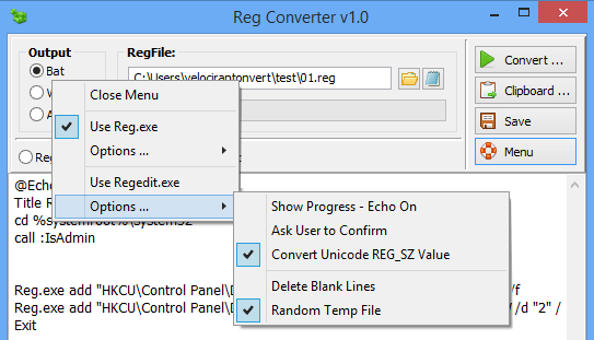 Reg converter choose output