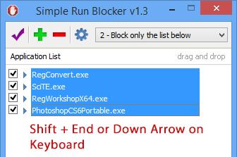 Simple Run Blocker