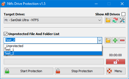 Ntfs Drive Protection screenshot