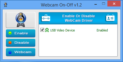 webcam on off enabled
