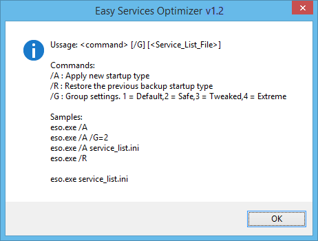 Easy service optimizer cmd support