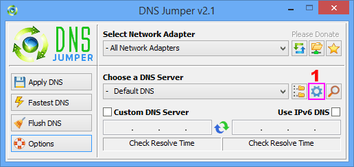 Dns jUmper - Add dns or Dns group
