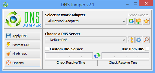 dns jumper main gui