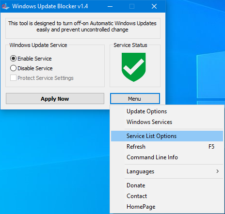 Windows Update Blocker main
