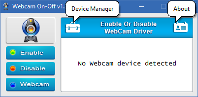 webcam on off options