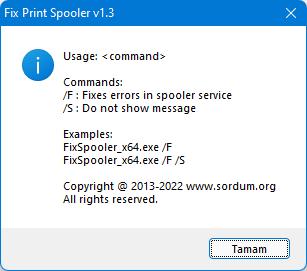 Fix Print Spooler Cmd Paramaters