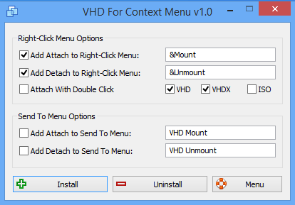 VHD For Context Menu main