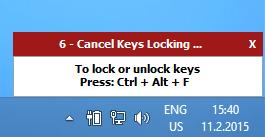 keyfreeze countdown popup