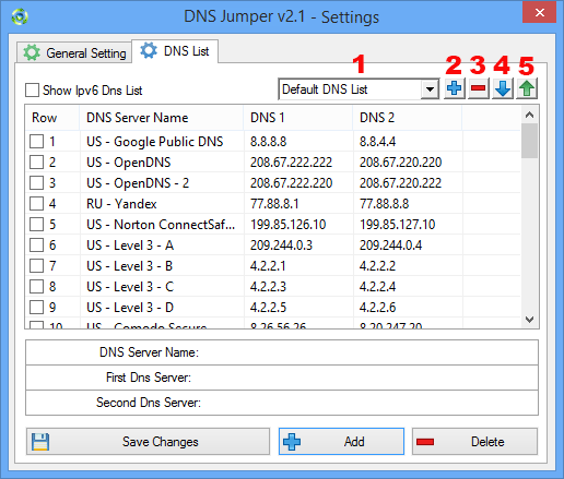 Add a dns or Dns group