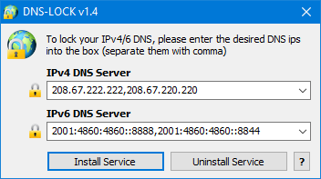Dns lock locked Dns Adresses