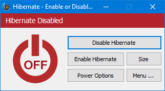hibernate disabled