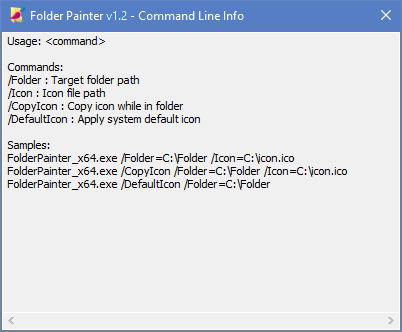 Folder Painter cmd support