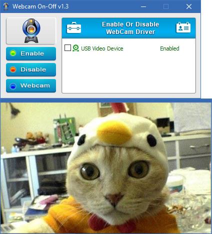 webcam on off Webcam preview
