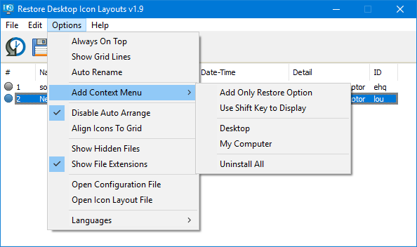 add context menu