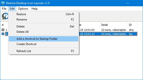 Add a shortcut to Startup Folder