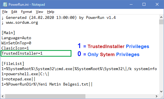 powerrun with trustedinstaller privileges