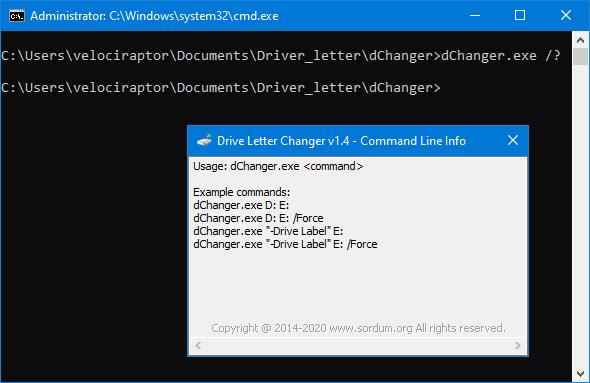 Driver Letter changer cmd support