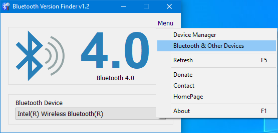 Bluetooth version finder main