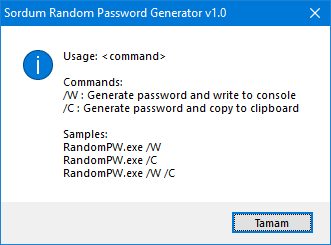 Sordum Random password generator Cmd support