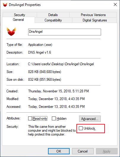unblock a file