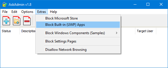 Block Build-in (UWP) Apps