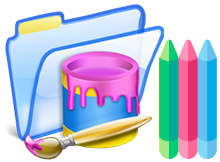 Colorful folder with Folder Painter