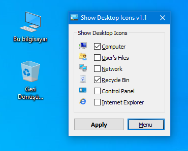 Add internet explorer icon on desktop