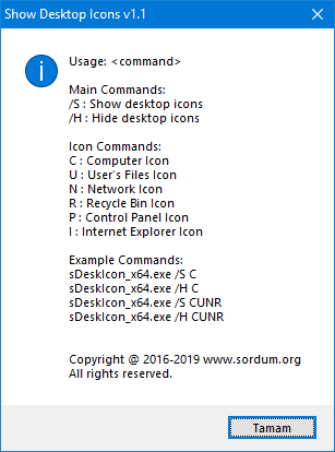 show desktop icon cmd support
