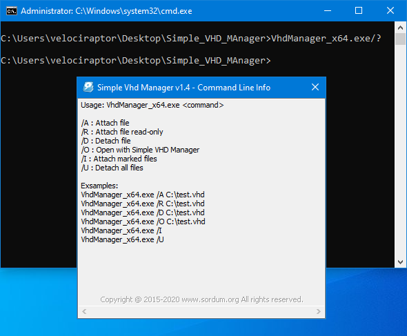 simple vhd manager cmd support