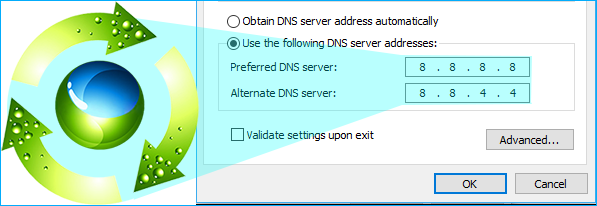 change dns with dnsJumper