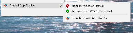 Fab right click exe menu