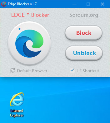 Edge blocker ie shortcut