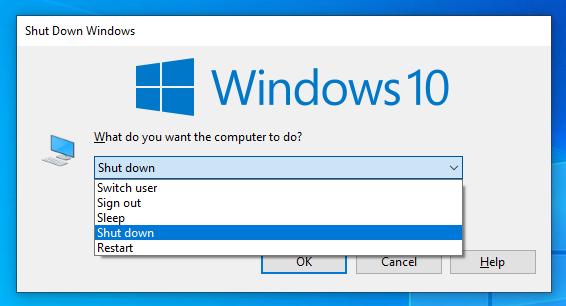 Classic Shut Down Windows main