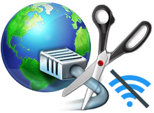 Block internet with netdisabler