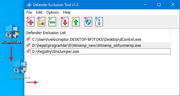 Defender exclusion tool main
