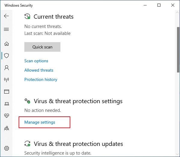 Manage defender Threat settings
