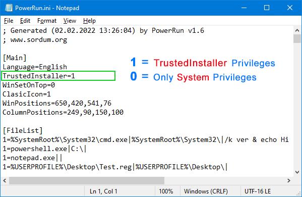 powerrun with trustedinstaller privileges
