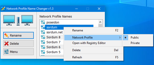 Network Profile Name Changer