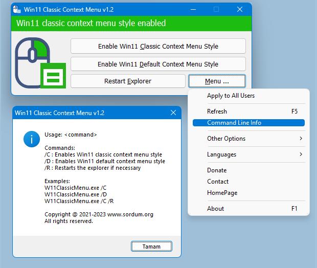 win11 classic context menu cmd parameters